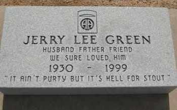 GREEN, JERRY LEE - Cochise County, Arizona | JERRY LEE GREEN - Arizona Gravestone Photos