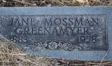 GREENAMYER, JANE - Cochise County, Arizona | JANE GREENAMYER - Arizona Gravestone Photos