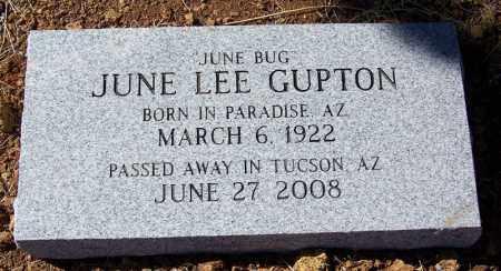 "LEE GUPTON, JUNE 'JUNE BUG"" - Cochise County, Arizona | JUNE 'JUNE BUG"" LEE GUPTON - Arizona Gravestone Photos"