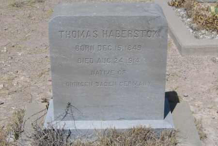 HABERSTOK, THOMAS - Cochise County, Arizona   THOMAS HABERSTOK - Arizona Gravestone Photos
