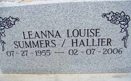 HALLIER, LEANNA LOUISE - Cochise County, Arizona   LEANNA LOUISE HALLIER - Arizona Gravestone Photos
