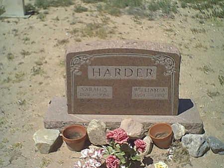 HARDER, SARAH - Cochise County, Arizona | SARAH HARDER - Arizona Gravestone Photos