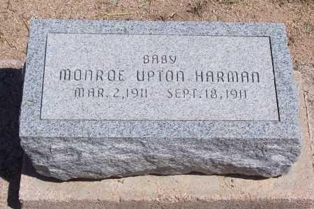 HARMAN, MONROE UPTON - Cochise County, Arizona | MONROE UPTON HARMAN - Arizona Gravestone Photos