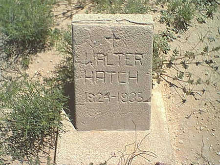 HATCH, WALTER N. - Cochise County, Arizona | WALTER N. HATCH - Arizona Gravestone Photos