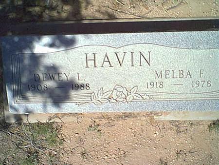 HAVIN, MELBA F. - Cochise County, Arizona | MELBA F. HAVIN - Arizona Gravestone Photos