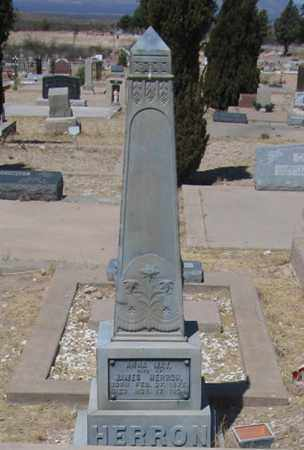 HERRON, ANNA - Cochise County, Arizona | ANNA HERRON - Arizona Gravestone Photos