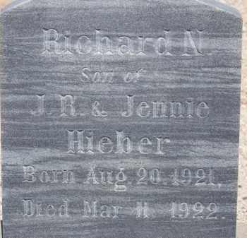 HIEBER, RICHARD N. - Cochise County, Arizona | RICHARD N. HIEBER - Arizona Gravestone Photos