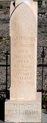 HOLLAND, BARTHOLOMEW J. - Cochise County, Arizona | BARTHOLOMEW J. HOLLAND - Arizona Gravestone Photos