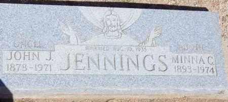 JENNINGS, MINNA C. - Cochise County, Arizona | MINNA C. JENNINGS - Arizona Gravestone Photos