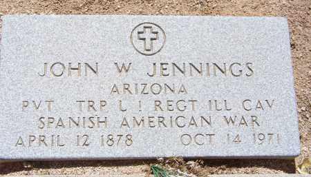 JENNINGS, JOHN W. - Cochise County, Arizona | JOHN W. JENNINGS - Arizona Gravestone Photos