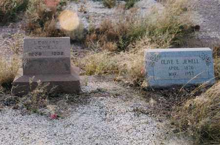 JEWELL, LEONARD AND OLIVE E - Cochise County, Arizona | LEONARD AND OLIVE E JEWELL - Arizona Gravestone Photos