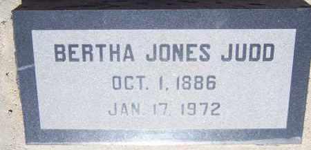 JUDD, BERTHA JONES - Cochise County, Arizona | BERTHA JONES JUDD - Arizona Gravestone Photos