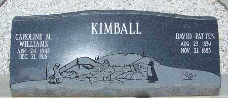 KIMBALL, CAROLINE M. - Cochise County, Arizona | CAROLINE M. KIMBALL - Arizona Gravestone Photos