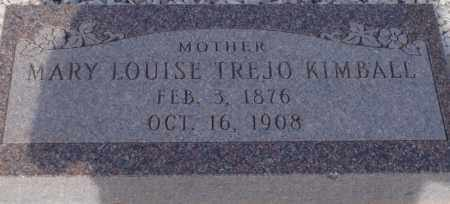 TREJO KIMBALL, MARY LOUISE - Cochise County, Arizona | MARY LOUISE TREJO KIMBALL - Arizona Gravestone Photos