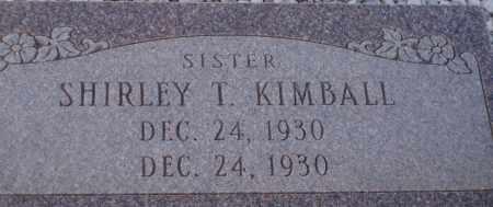 KIMBALL, SHIRLEY T. - Cochise County, Arizona | SHIRLEY T. KIMBALL - Arizona Gravestone Photos