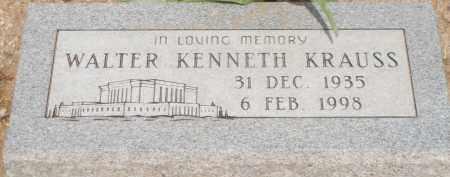 KRAUSS, WALTER KENNETH - Cochise County, Arizona   WALTER KENNETH KRAUSS - Arizona Gravestone Photos