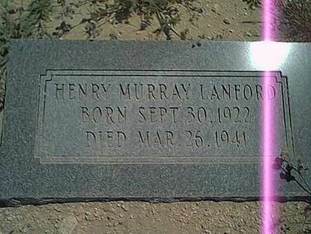 LANFORD, HENRY M. - Cochise County, Arizona | HENRY M. LANFORD - Arizona Gravestone Photos