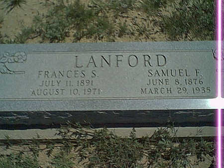 LANFORD, SAMUEL F. - Cochise County, Arizona | SAMUEL F. LANFORD - Arizona Gravestone Photos