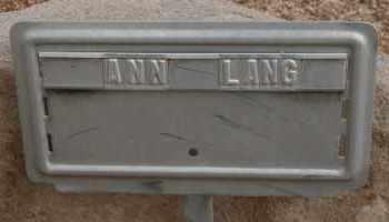 LANG, ANN - Cochise County, Arizona | ANN LANG - Arizona Gravestone Photos