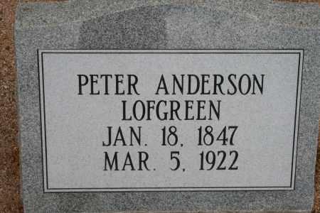 LOFGREEN, PETER ANDERSON - Cochise County, Arizona   PETER ANDERSON LOFGREEN - Arizona Gravestone Photos