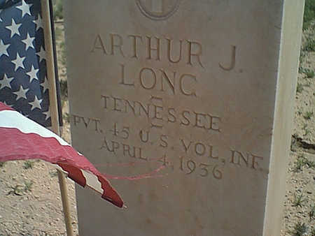 LONG, ARTHUR J. - Cochise County, Arizona | ARTHUR J. LONG - Arizona Gravestone Photos