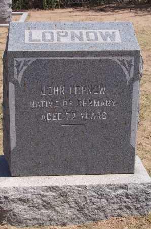LOPNOW, JOHN - Cochise County, Arizona   JOHN LOPNOW - Arizona Gravestone Photos