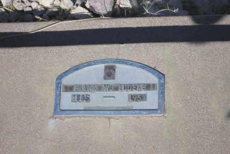 LUDEKE, FRANK W. - Cochise County, Arizona   FRANK W. LUDEKE - Arizona Gravestone Photos