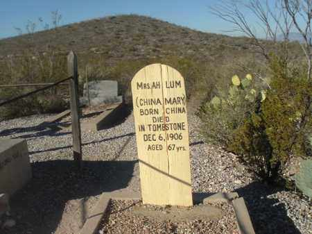 "LUM, MRS AH ""CHINA MARY"" - Cochise County, Arizona   MRS AH ""CHINA MARY"" LUM - Arizona Gravestone Photos"