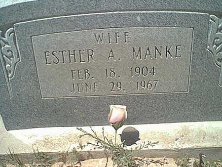 MANKE, ESTHER A. - Cochise County, Arizona | ESTHER A. MANKE - Arizona Gravestone Photos