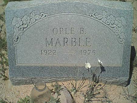 MARBLE, OPLE B. - Cochise County, Arizona | OPLE B. MARBLE - Arizona Gravestone Photos