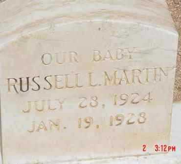 MARTIN, RUSSELL L. - Cochise County, Arizona | RUSSELL L. MARTIN - Arizona Gravestone Photos