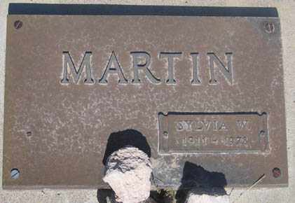 MARTIN, SYLVIA W. - Cochise County, Arizona | SYLVIA W. MARTIN - Arizona Gravestone Photos