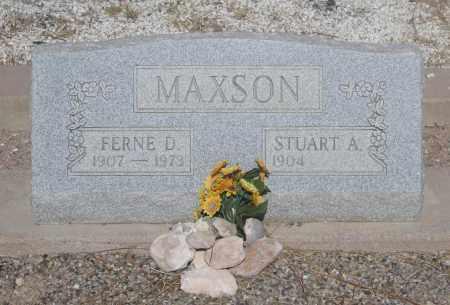 MAXSON, STUART A - Cochise County, Arizona | STUART A MAXSON - Arizona Gravestone Photos