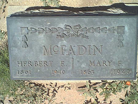 MCFADIN, MARY F. - Cochise County, Arizona | MARY F. MCFADIN - Arizona Gravestone Photos
