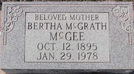 MCGRATH MCGEE, BERTHA - Cochise County, Arizona | BERTHA MCGRATH MCGEE - Arizona Gravestone Photos