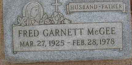 MCGEE, FRED GARNETT - Cochise County, Arizona | FRED GARNETT MCGEE - Arizona Gravestone Photos