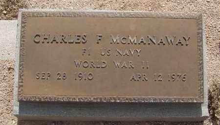 MCMANAWAY, CHARLES F - Cochise County, Arizona   CHARLES F MCMANAWAY - Arizona Gravestone Photos