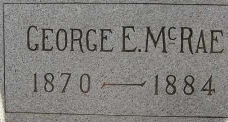 MCRAE, GEORGE E. - Cochise County, Arizona   GEORGE E. MCRAE - Arizona Gravestone Photos