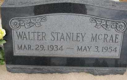 MCRAE, WALTER STANLEY - Cochise County, Arizona | WALTER STANLEY MCRAE - Arizona Gravestone Photos