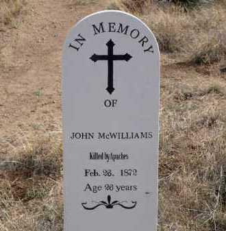 MCWILLIAMS, JOHN - Cochise County, Arizona   JOHN MCWILLIAMS - Arizona Gravestone Photos
