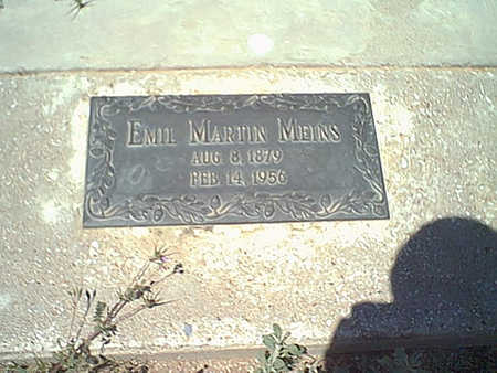 MEINS, EMIL M. - Cochise County, Arizona | EMIL M. MEINS - Arizona Gravestone Photos
