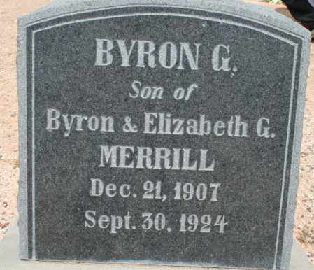 MERRILL, BYRON G. - Cochise County, Arizona | BYRON G. MERRILL - Arizona Gravestone Photos