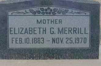 MERRILL, ELIZABETH G. - Cochise County, Arizona | ELIZABETH G. MERRILL - Arizona Gravestone Photos