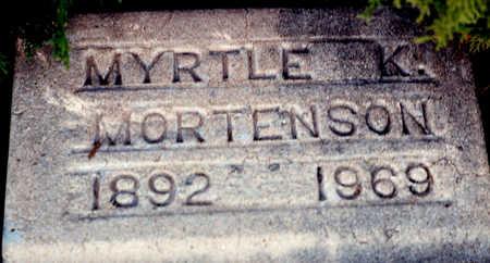 KERBY MORTENSON, MYRTLE K - Cochise County, Arizona | MYRTLE K KERBY MORTENSON - Arizona Gravestone Photos