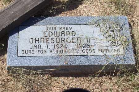 OHNESORGEN II, EDWARD - Cochise County, Arizona   EDWARD OHNESORGEN II - Arizona Gravestone Photos