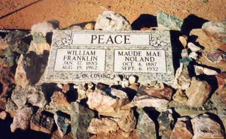 NOLAND PEACE, MAUDE MAE - Cochise County, Arizona | MAUDE MAE NOLAND PEACE - Arizona Gravestone Photos