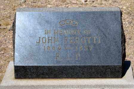 PEROTTI, JOHN - Cochise County, Arizona | JOHN PEROTTI - Arizona Gravestone Photos