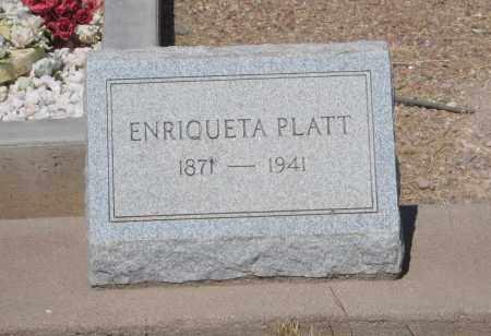 PLATT, ENRIQUETA - Cochise County, Arizona | ENRIQUETA PLATT - Arizona Gravestone Photos