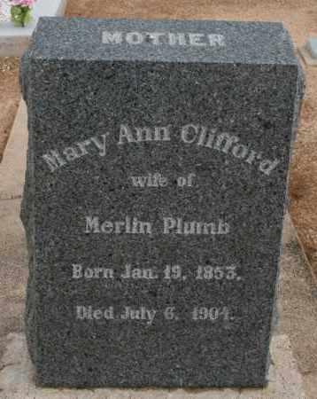 PLUMB, MARY ANN - Cochise County, Arizona | MARY ANN PLUMB - Arizona Gravestone Photos