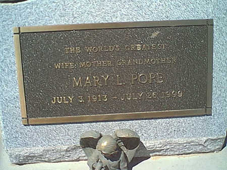 POPE, MARY L. - Cochise County, Arizona | MARY L. POPE - Arizona Gravestone Photos